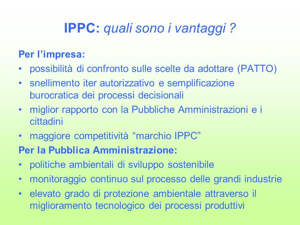 IPPC: quali sono i vantaggi .