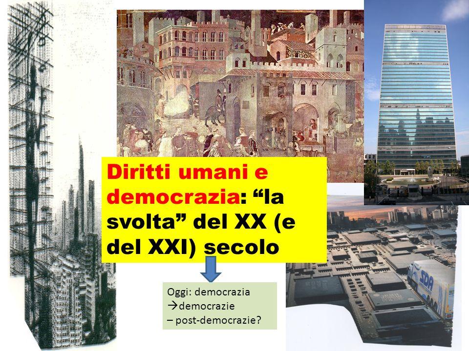 Carlo Nanni nanni@unisal.it Diritti umani e democrazia: la svolta del XX (e del XXI) secolo Oggi: democrazia democrazie – post-democrazie?