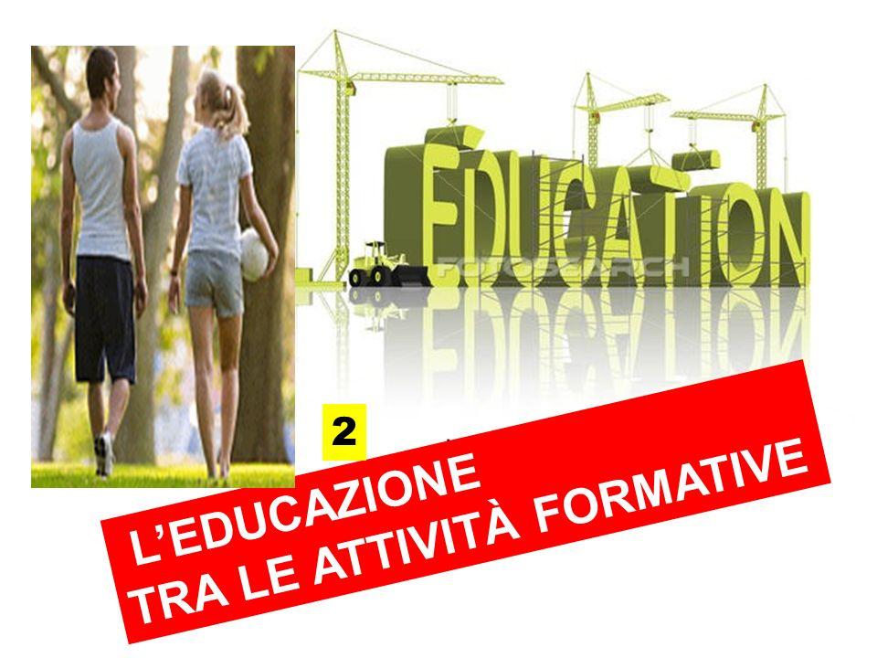 LEDUCAZIONE TRA LE ATTIVITÀ FORMATIVE 2