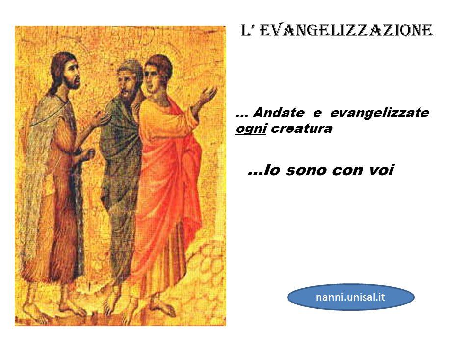 … Andate e evangelizzate ogni creatura …Io sono con voi L Evangelizzazione nanni.unisal.it