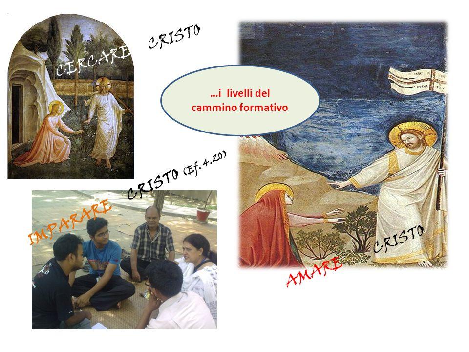 CERCARE CRISTO IMPARARE CRISTO (Ef. 4.20) AMARE CRISTO …i livelli del cammino formativo