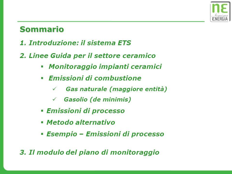 LIVELLO 1: valore conservativo pari a 1 (calcinazione completa dei carbonati) FATTORE DI CONVERSIONE Emissioni di processo - MATERIE PRIME IMPASTO Flusso di minore entità