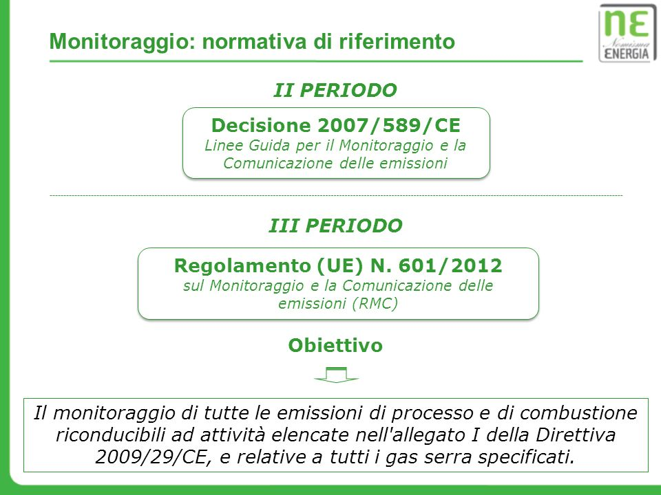 GAS NATURALE - Flusso di maggiore entità Dato attività: quantità di combustibile consumato tenendo conto anche di eventuali scorte presenti in impianto (Nm 3 ).