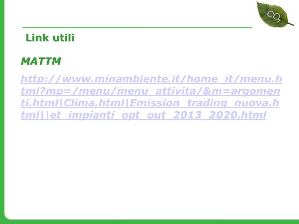 MATTM http://www.minambiente.it/home_it/menu.h tml?mp=/menu/menu_attivita/&m=argomen ti.html|Clima.html|Emission_trading_nuova.h tml||et_impianti_opt_