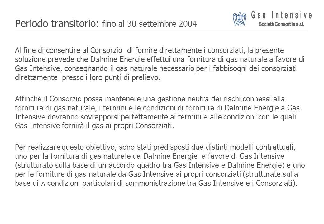 ©2004 Dalmine Energie | Page 12 | Periodo transitorio: fino al 30 settembre 2004 Al fine di consentire al Consorzio di fornire direttamente i consorzi