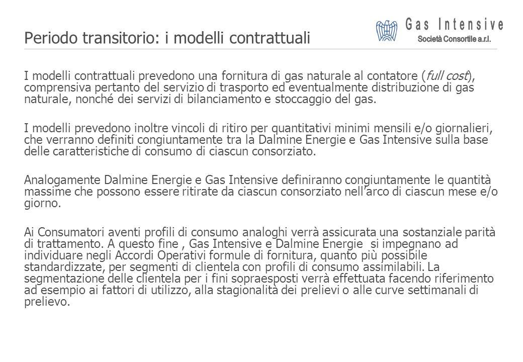 ©2004 Dalmine Energie | Page 14 | Periodo transitorio: i modelli contrattuali I modelli contrattuali prevedono una fornitura di gas naturale al contat