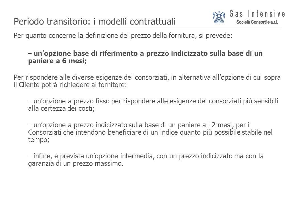 ©2004 Dalmine Energie | Page 15 | Periodo transitorio: i modelli contrattuali Per quanto concerne la definizione del prezzo della fornitura, si preved