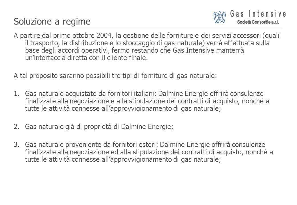 ©2004 Dalmine Energie | Page 19 | Soluzione a regime A partire dal primo ottobre 2004, la gestione delle forniture e dei servizi accessori (quali il t
