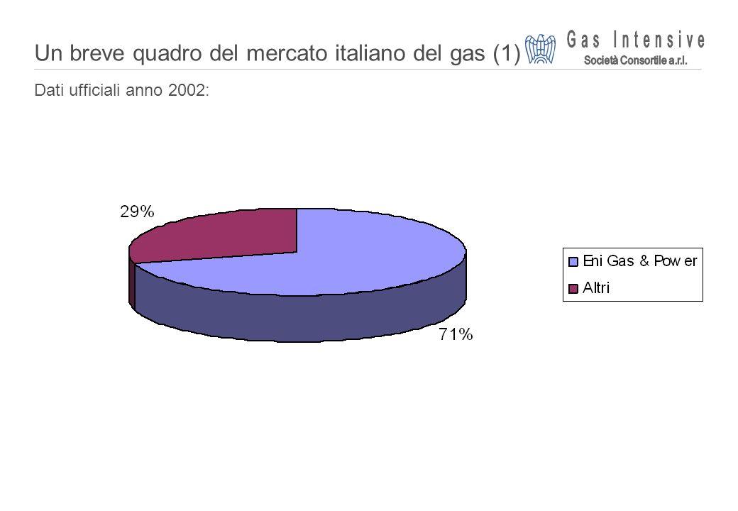 ©2004 Dalmine Energie | Page 2 | Un breve quadro del mercato italiano del gas (1) Dati ufficiali anno 2002:
