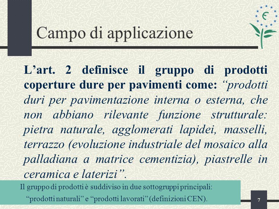 7 Campo di applicazione Lart.