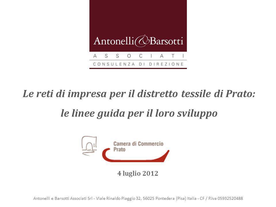 Antonelli e Barsotti Associati Srl - Viale Rinaldo Piaggio 32, 56025 Pontedera (Pisa) Italia - CF / P.Iva 05932520488 Le reti di impresa per il distre