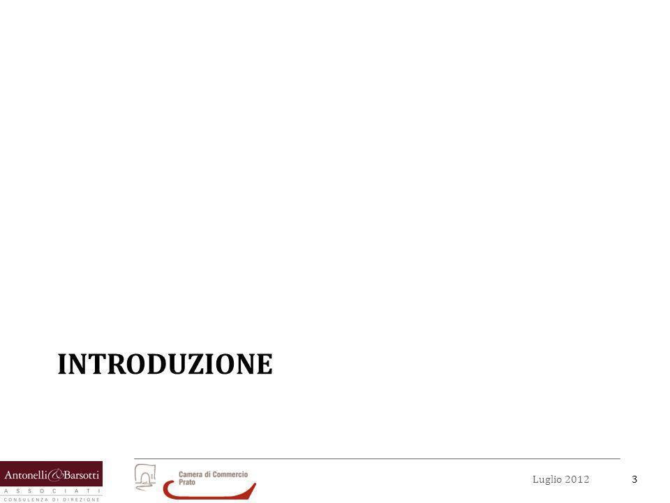 4Luglio 2012 Obiettivi del documento Il presente lavoro è stato sviluppato con il duplice obiettivo di: Individuare dei possibili campi di applicazione, allinterno del distretto tessile pratese, da valorizzare attraverso listituto normativo del contratto di rete.