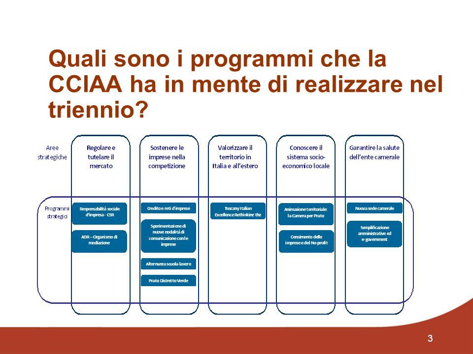 3 Quali sono i programmi che la CCIAA ha in mente di realizzare nel triennio