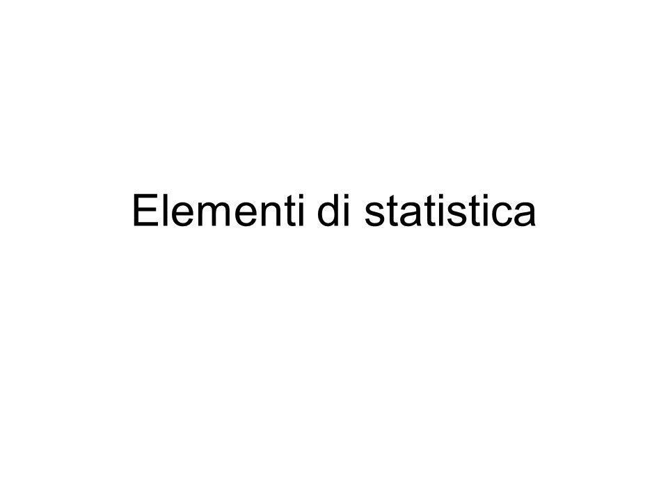 La statistica è unestensione del calcolo delle probabilità –Si parte dai concetti fondamentali –Si estende la definizione di probabilità –Si introducono delle nuove variabili