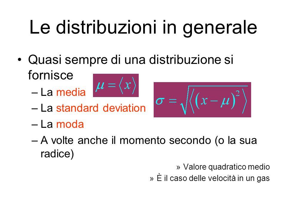 Le distribuzioni in generale Attenzione a non confondere Facili a confondere se si usa il simbolo