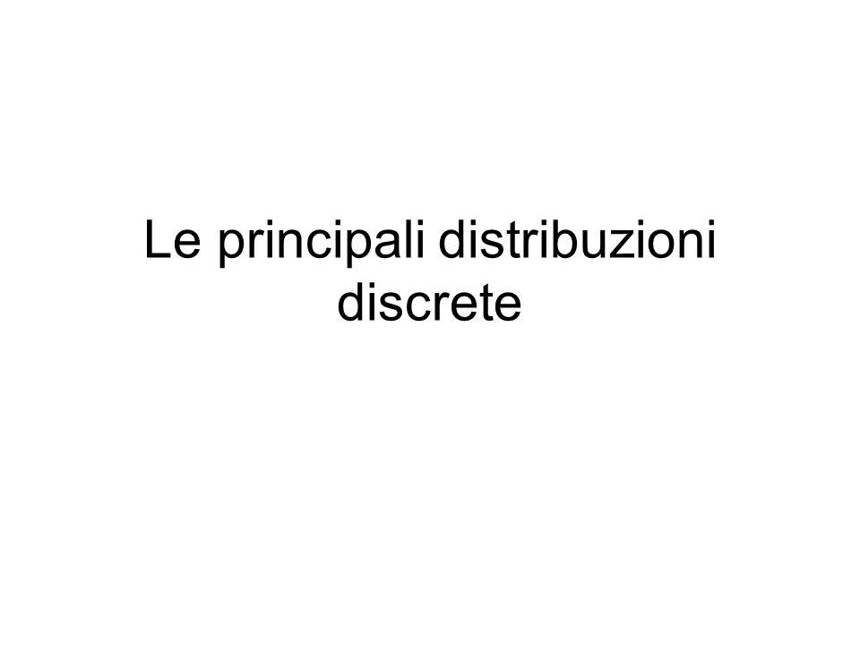 Veramente importanti solamente due –Distribuzione di Bernoulli e binomiale –Distribuzione di Poisson, o degli eventi rari