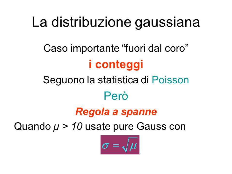 La distribuzione gaussiana La funzione di distribuzione