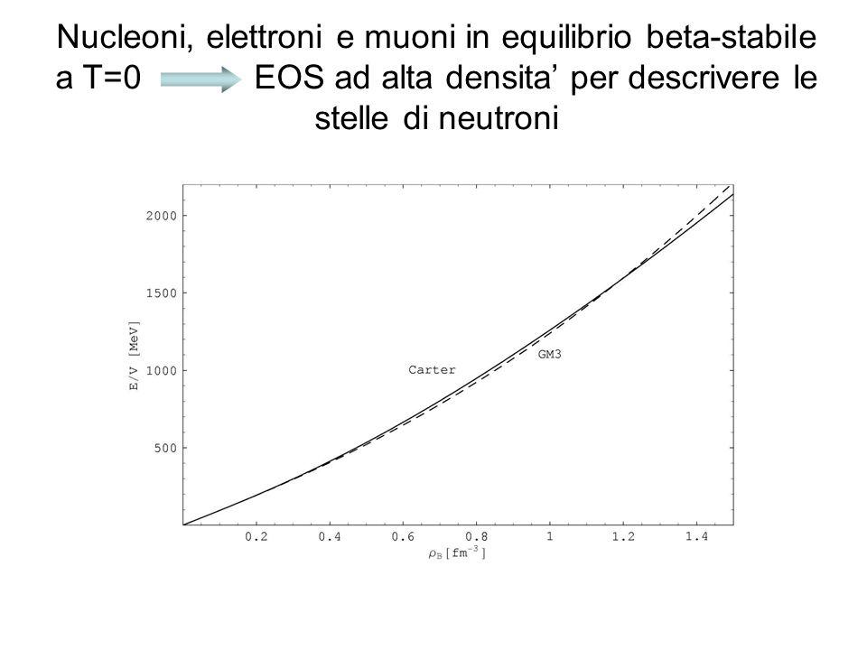 Nucleoni, elettroni e muoni in equilibrio beta-stabile a T=0 EOS ad alta densita per descrivere le stelle di neutroni