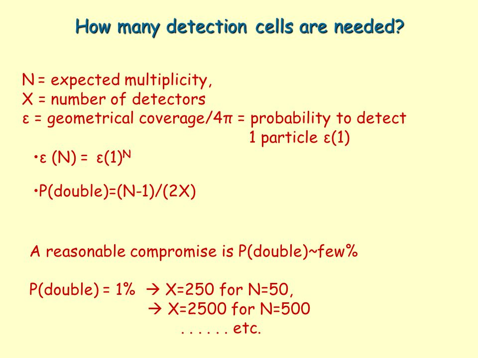 How many detection cells are needed.