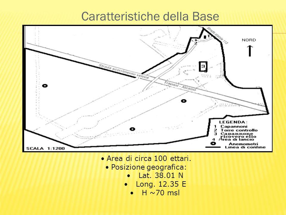 Caratteristiche della Base Area di circa 100 ettari.