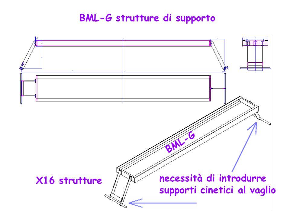 BML-G strutture di supporto X16 strutture necessità di introdurre supporti cinetici al vaglio BML-G
