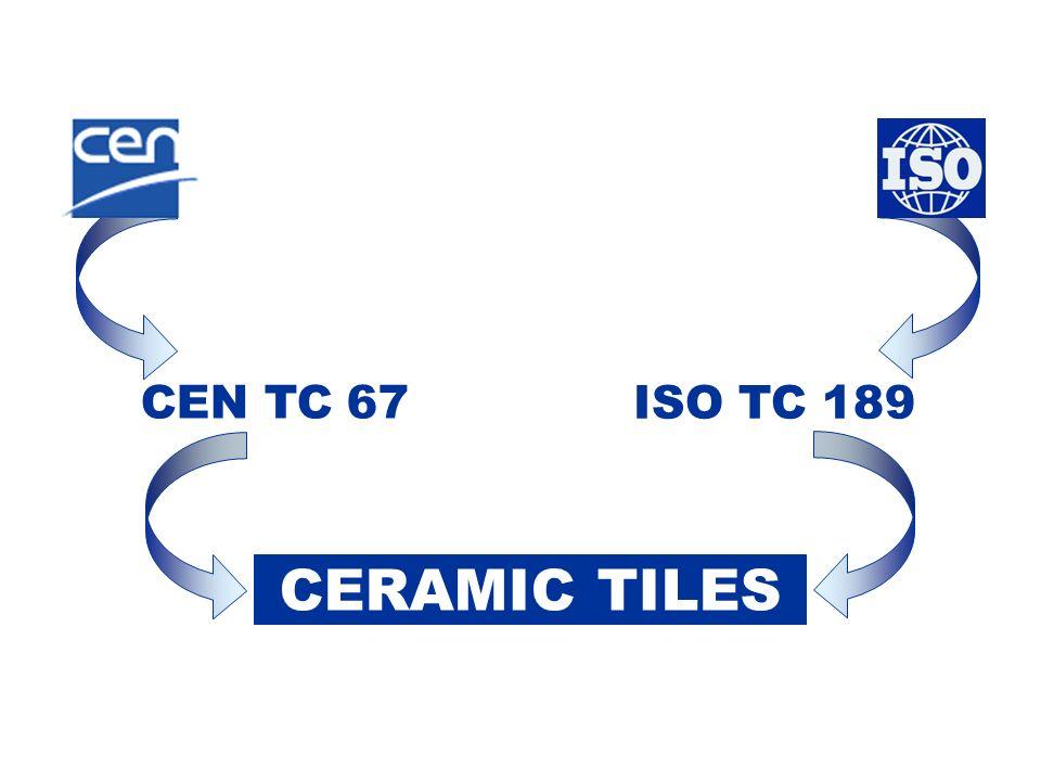 CERAMIC TILES CEN TC 67 ISO TC 189
