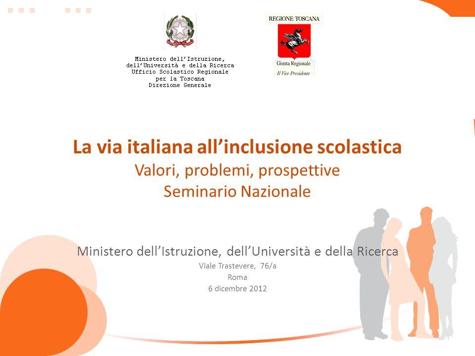 La via italiana allinclusione scolastica Valori, problemi, prospettive Seminario Nazionale Ministero dellIstruzione, dellUniversità e della Ricerca Vi
