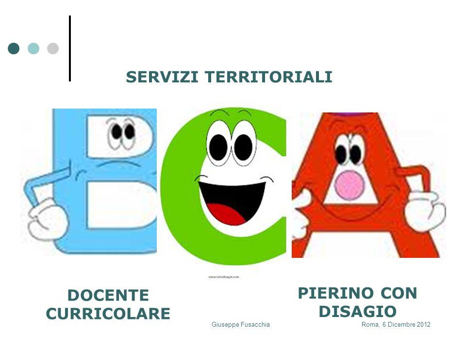 PIERINO CON DISAGIO SERVIZI TERRITORIALI DOCENTE CURRICOLARE Roma, 6 Dicembre 2012Giuseppe Fusacchia