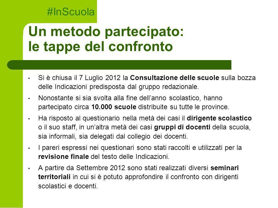 Si è chiusa il 7 Luglio 2012 la Consultazione delle scuole sulla bozza delle Indicazioni predisposta dal gruppo redazionale. Nonostante si sia svolta