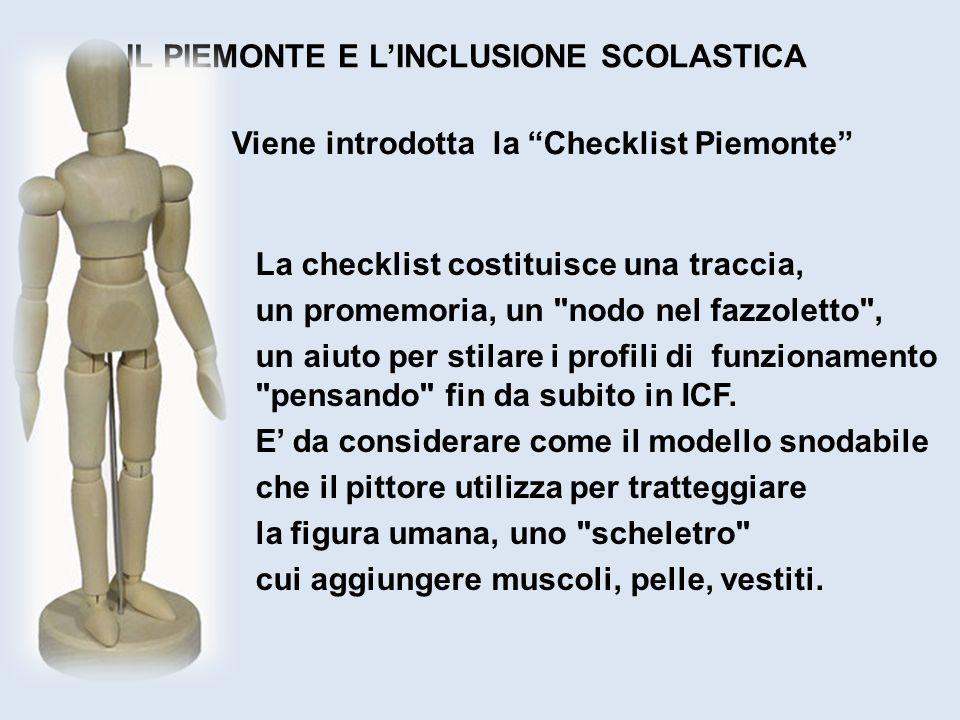 Viene introdotta la Checklist Piemonte La checklist costituisce una traccia, un promemoria, un