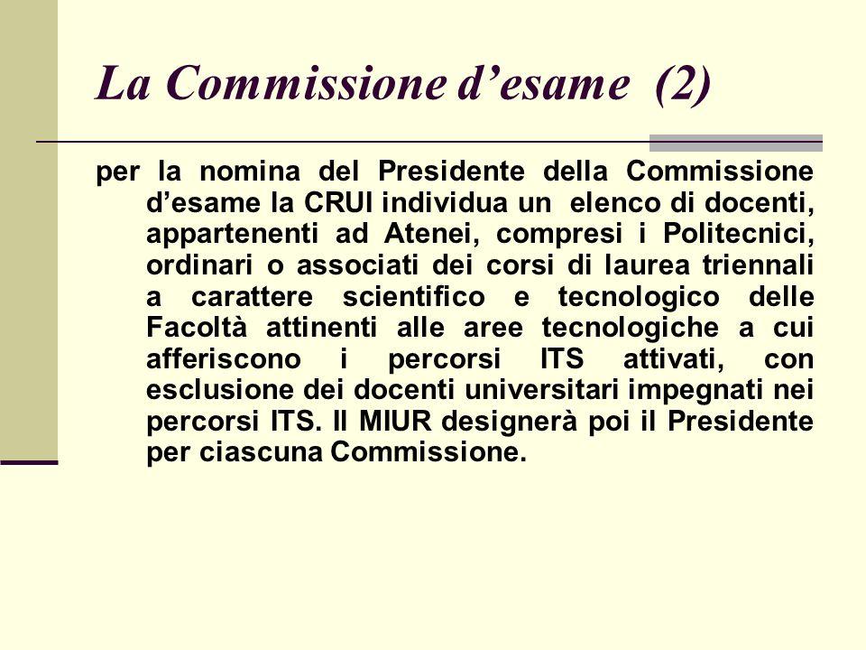 La Commissione desame (3) D.I.