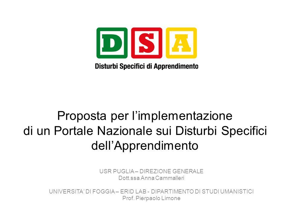 Dal Governo alla Governance I Comitati Tecnico-Scientifici Regionali per i DSA CTS c/o USR-DG (es.