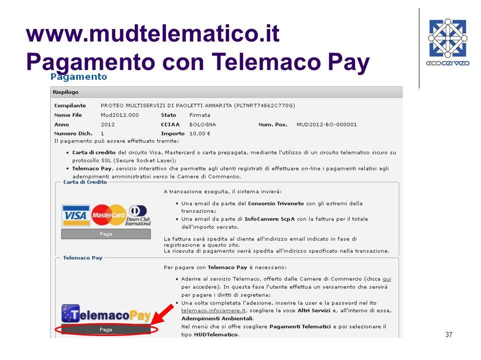 37 www.mudtelematico.it Pagamento con Telemaco Pay