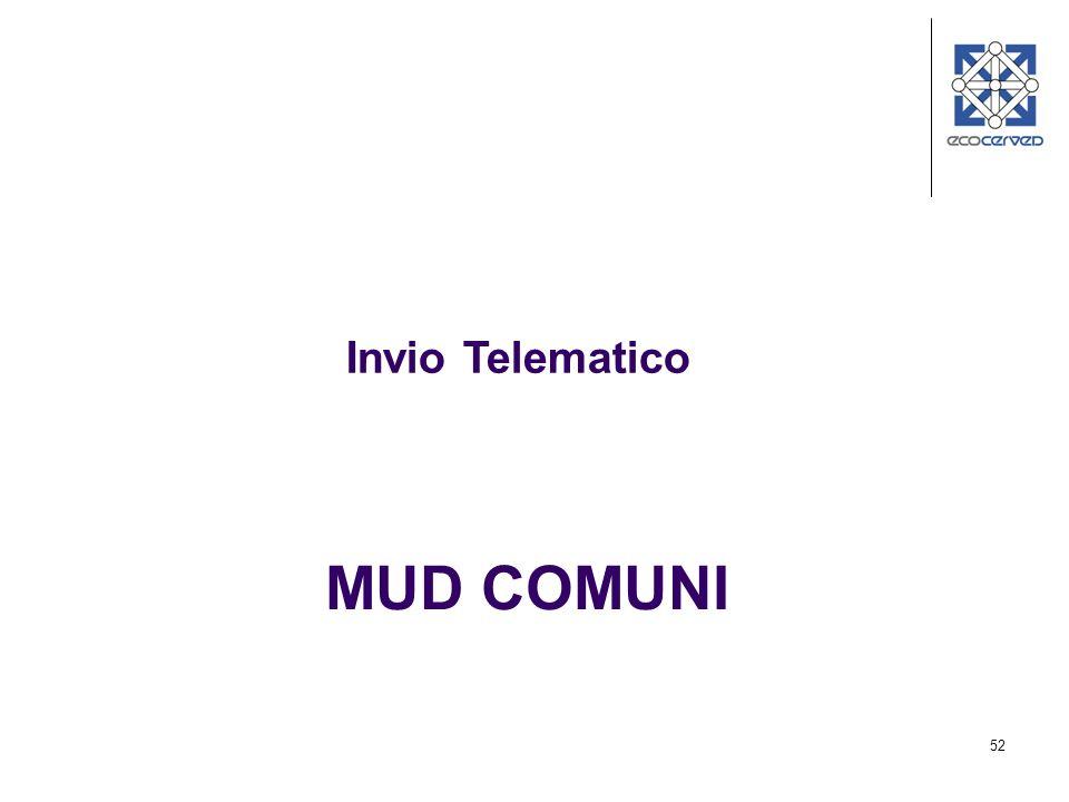 52 MUD COMUNI Invio Telematico