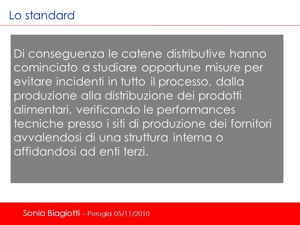 Lo standard Di conseguenza le catene distributive hanno cominciato a studiare opportune misure per evitare incidenti in tutto il processo, dalla produ