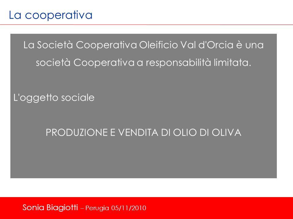 La cooperativa La Società Cooperativa Oleificio Val d'Orcia è una società Cooperativa a responsabilità limitata. L'oggetto sociale PRODUZIONE E VENDIT