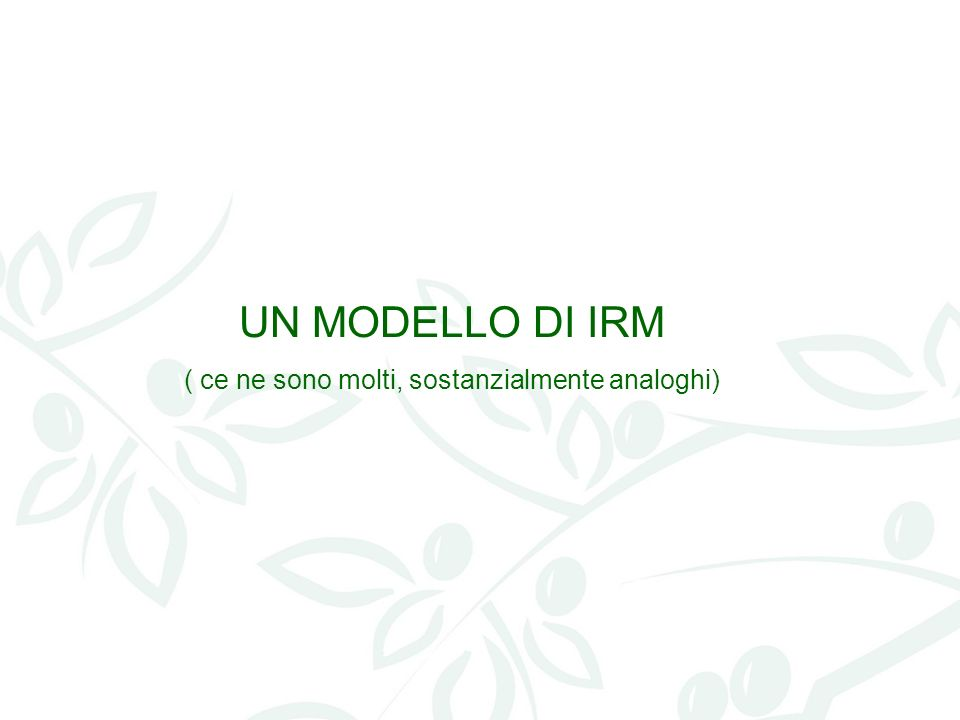 UNA PROPOSTA DI COLLABORAZIONE Un corso di alta formazione sullIRM (corso di perfezionamento delluniversità di Perugia) applicato al settore agro-alimentare
