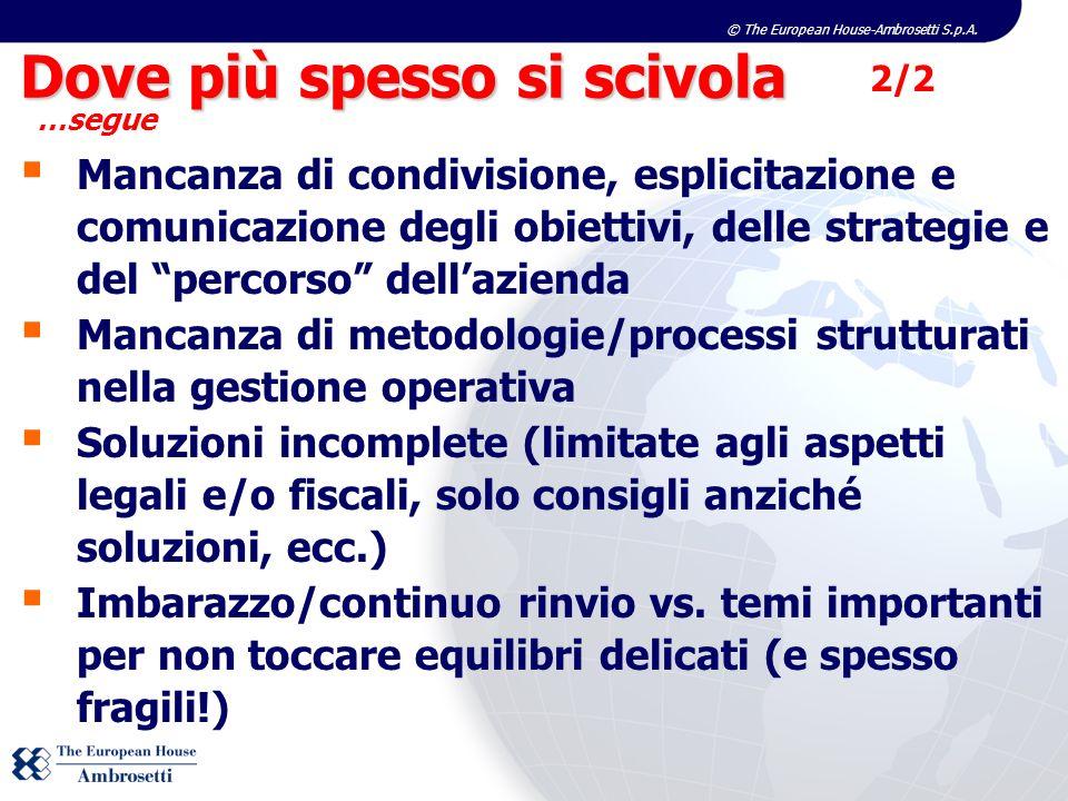 © The European House-Ambrosetti S.p.A. Mancanza di condivisione, esplicitazione e comunicazione degli obiettivi, delle strategie e del percorso dellaz
