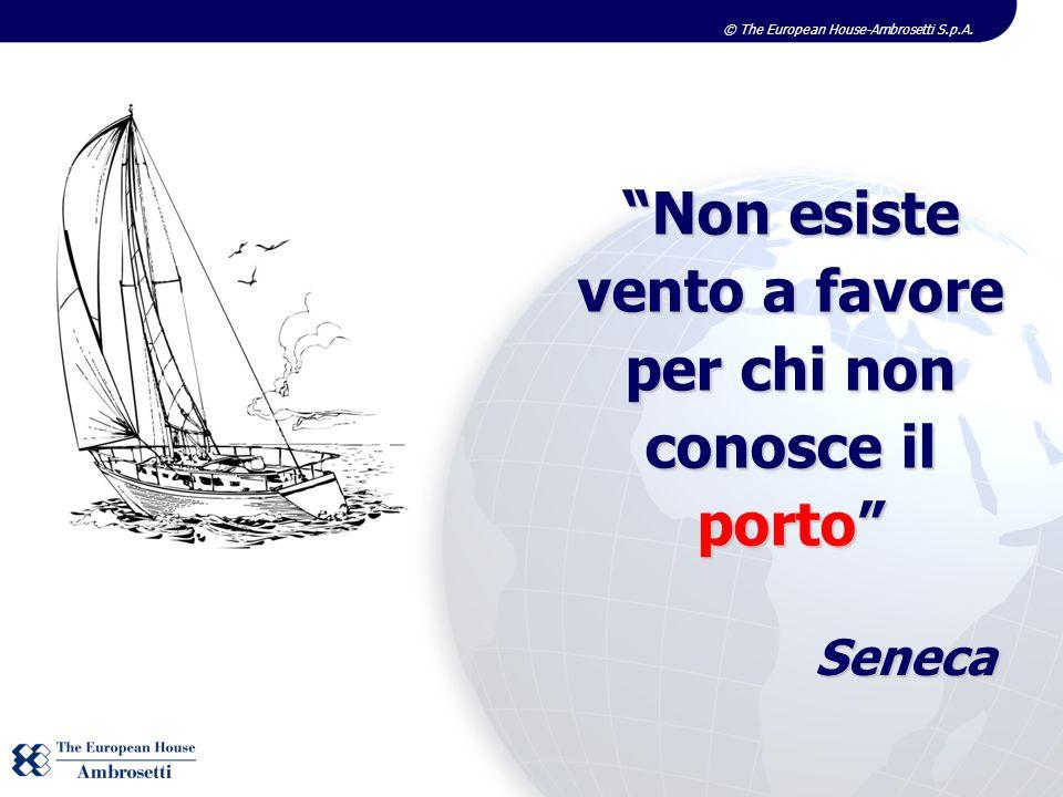 © The European House-Ambrosetti S.p.A. Non esiste vento a favore per chi non conosce il porto Seneca