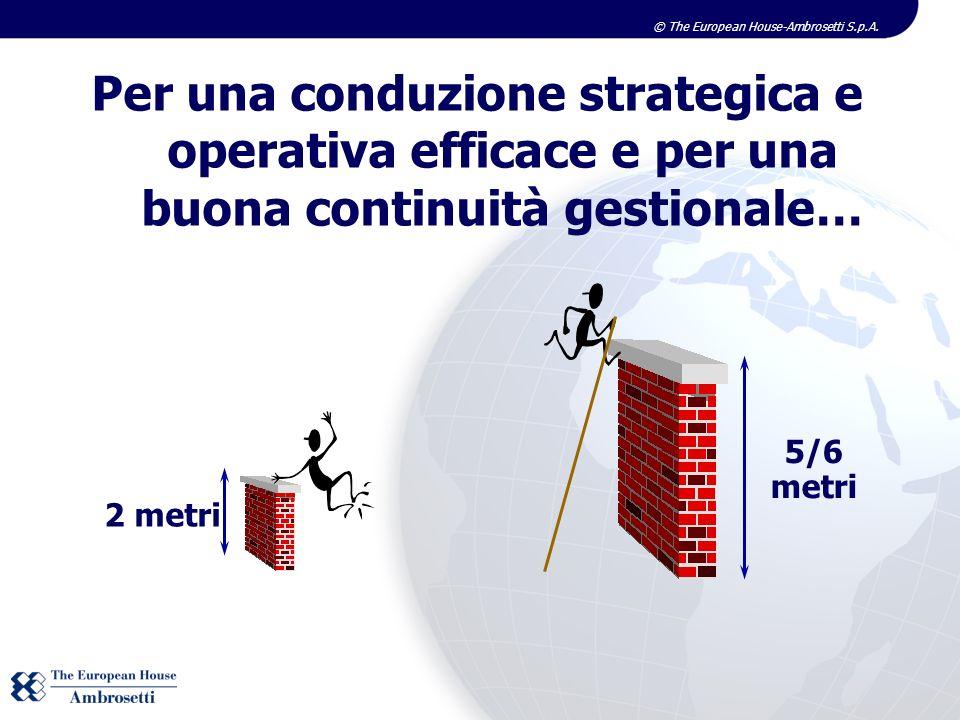 © The European House-Ambrosetti S.p.A. 2 metri 5/6 metri Per una conduzione strategica e operativa efficace e per una buona continuità gestionale…