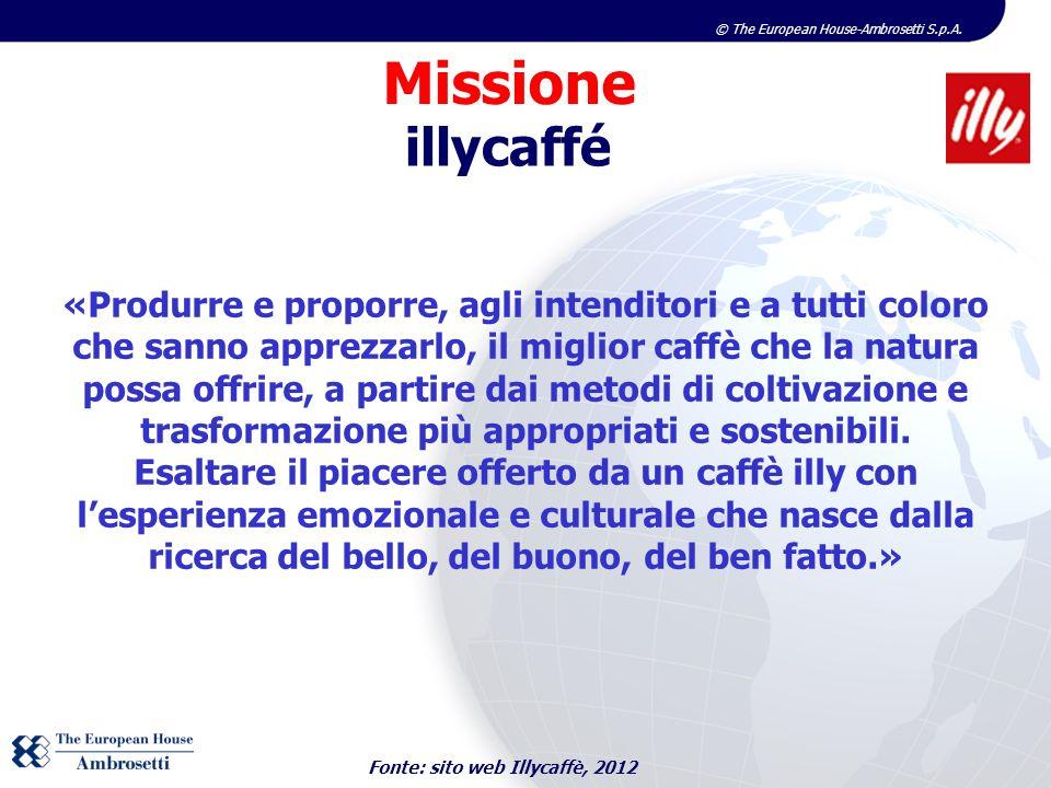 © The European House-Ambrosetti S.p.A. «Produrre e proporre, agli intenditori e a tutti coloro che sanno apprezzarlo, il miglior caffè che la natura p