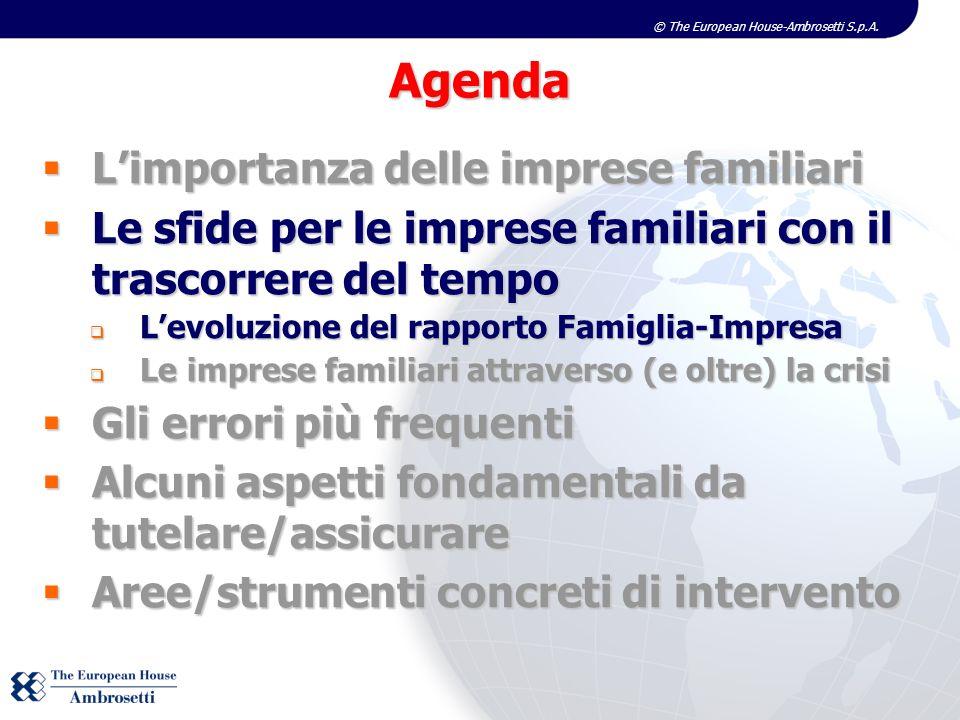 © The European House-Ambrosetti S.p.A. Limportanza delle imprese familiari Limportanza delle imprese familiari Le sfide per le imprese familiari con i