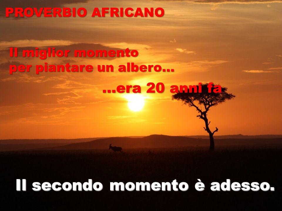© The European House-Ambrosetti S.p.A. PROVERBIO AFRICANO Il secondo momento è adesso. Il miglior momento per piantare un albero… …era 20 anni fa …era