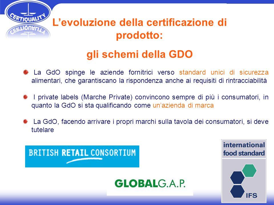 La GdO spinge le aziende fornitrici verso standard unici di sicurezza alimentari, che garantiscano la rispondenza anche ai requisiti di rintracciabili
