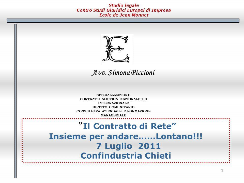 82 Contratto di Rete Partner for Value Partners for Valueè il secondo contratto di Rete stipulato in Abruzzo tra aziende operanti nei Servizi ad alto valore aggiunto alle imprese.