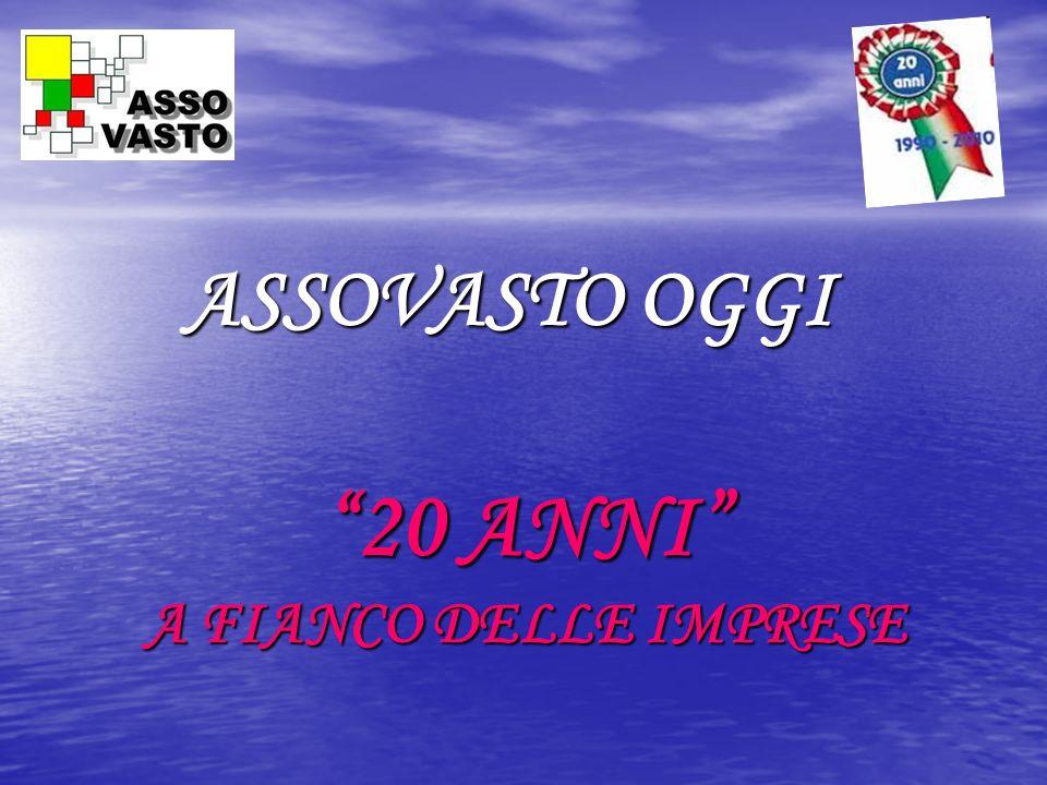 ASSOVASTO OGGI 20 ANNI A FIANCO DELLE IMPRESE