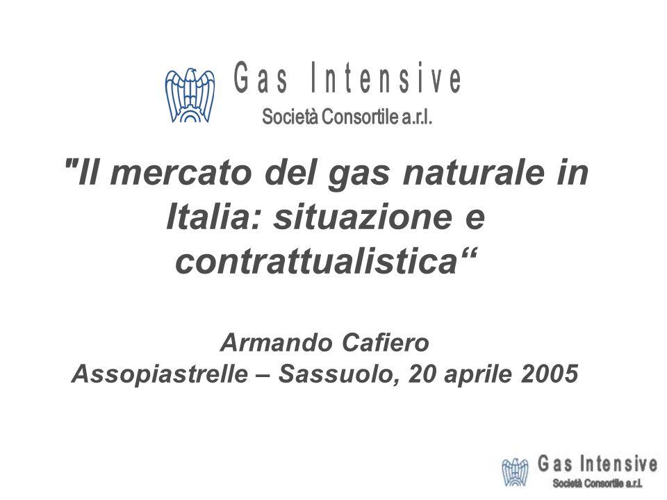 Il mercato del gas naturale in Italia: situazione e contrattualistica Armando Cafiero Assopiastrelle – Sassuolo, 20 aprile 2005