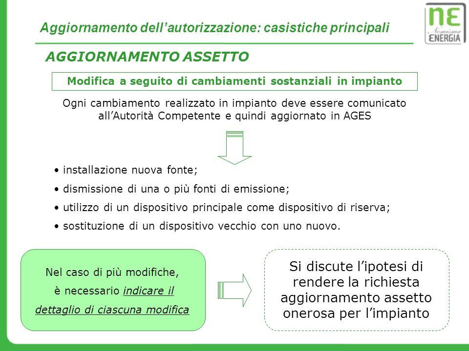 Esempio pratico: aggiornamento autorizzazione 2.