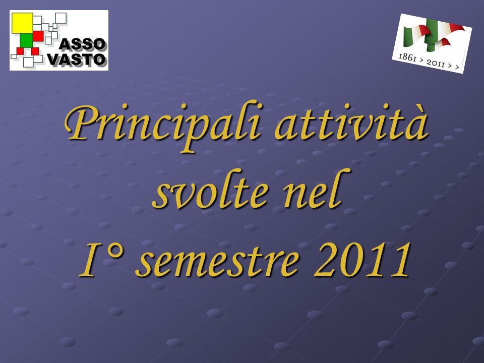 Principali attività svolte nel I° semestre 2011