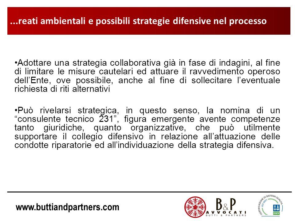 www.buttiandpartners.com Adottare una strategia collaborativa già in fase di indagini, al fine di limitare le misure cautelari ed attuare il ravvedime
